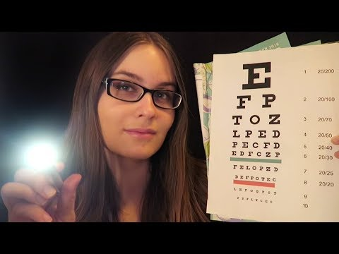 ASMR Eye Exam Roleplay (Light, Eye Chart, 1 or 2)