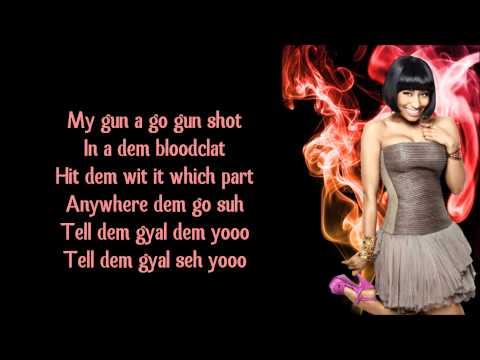 (+) gun shot nicki minaj ft.beenie man