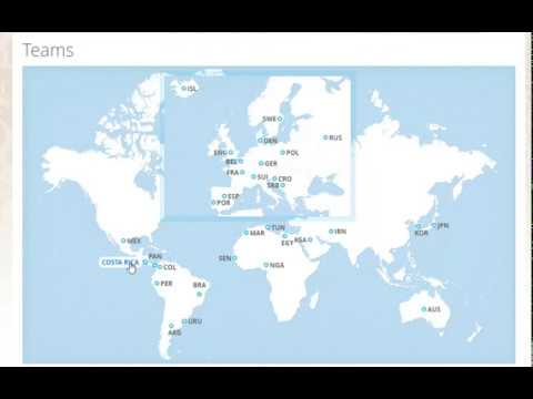 Football World cup Russia 2018 | all Teams Geographical display on world map **