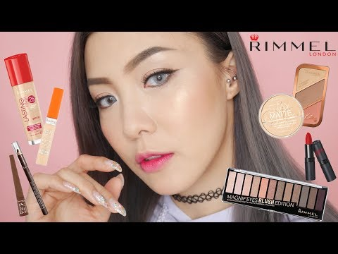 [AD] 陪我玩平價化妝品 Full Face Using Rimmel | HIDDIE T