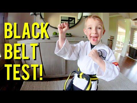 FATHER SON KARATE! / The Black Belt Test!