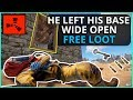 This PLAYER Left His WHOLE BASE OPEN!! Rust Solo Survival Gameplay
