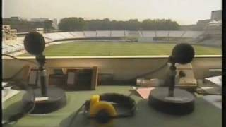 cricket commentators brian johnston jonathan agnew in hysterics commentating on lords test match
