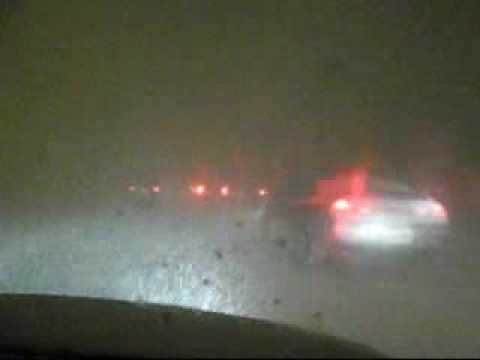 Alberta Hwy QE2 Snow Storm Driving