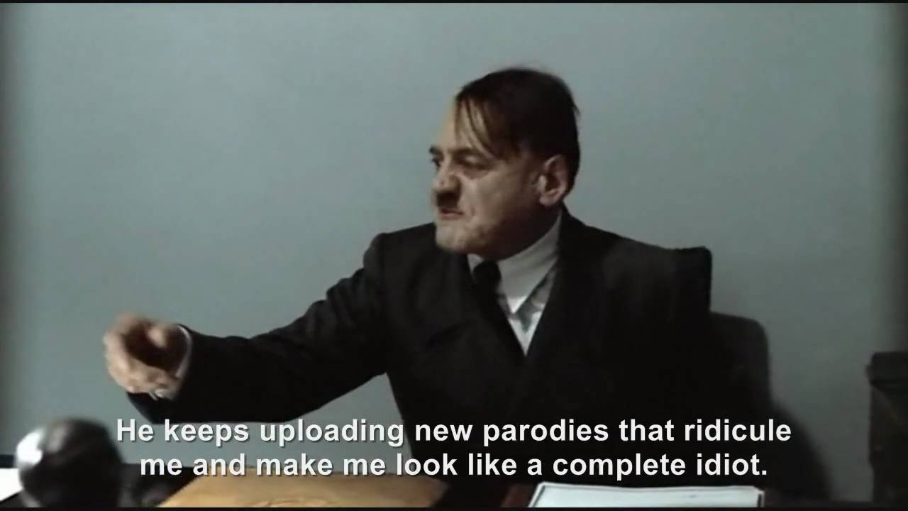 "Hitler is asked ""Who is hitlerrantsparodies?"""