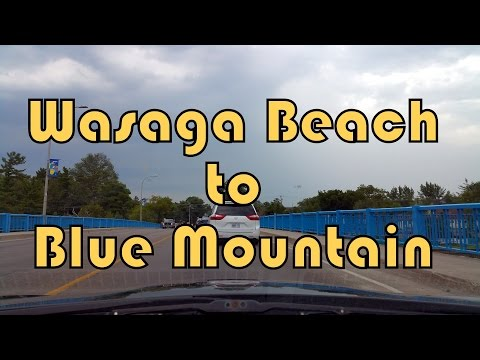 Wasaga Beach Town to Blue Mountain Resort, Ontario, Canada