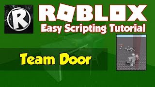 Roblox | How to make a Team Door | 2019 [FE]