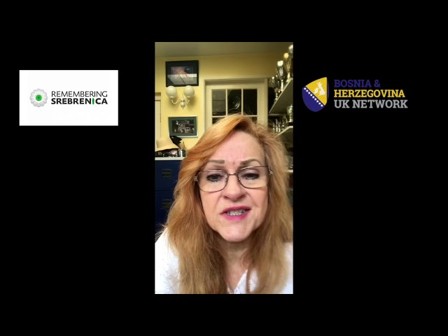 Remembering Srebrenica 2020 - Susan Stretton (Healing Hands Network)