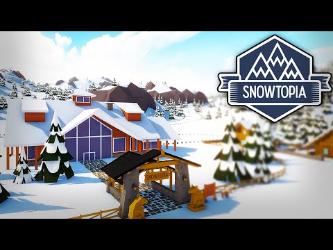 THIS GAME IS SO RELAXING! - Snowtopia: Ski Resort Tycoon |