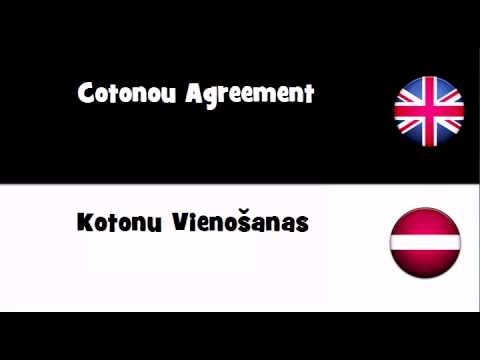 TRANSLATE IN 20 LANGUAGES = Cotonou Agreement