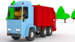 Lerne Farben dem Müllauto und Dino dem Dinosaurier | Lehrreiche Cartoons für Kinder und Kleinkinder