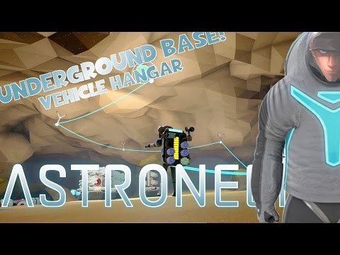 ASTRONEER - Underground Base Vehicle Hangar and Titanium mining | Gameplay part Let's Play