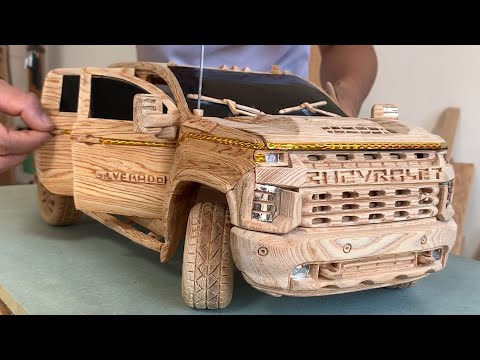 Wood Carving – 2021 CHEVY SILVERADO 2500HD – Woodworking Art