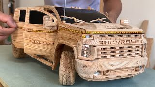Wood Carving - 2021 CHEVY SILVERADO 2500HD - Woodworking Art
