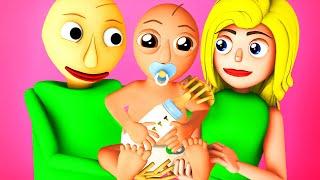 Ребенок Балди – Балдик (Baldi's Basics Девушка Балдина Свадьба Сын 3D Анимация)