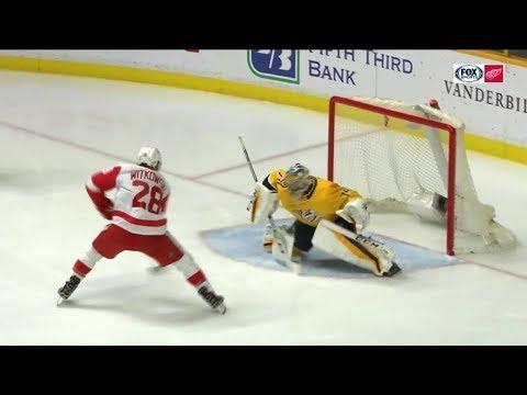 Luke Witkowski's First NHL Goal - 2/17/18