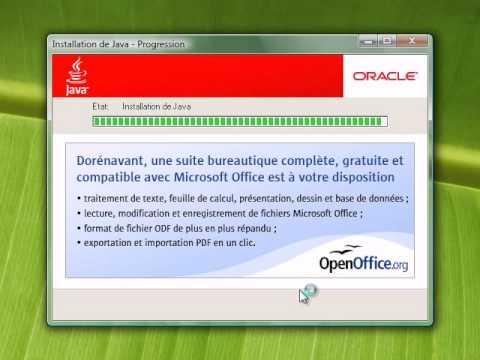 Installation De Java Sous Windows Vista