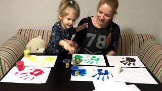 Кира учит цвета на русском и английском. Очень весело! Обучалка цветов. Кира фемели