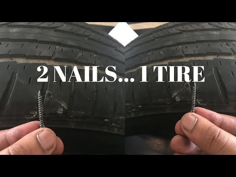 2 Nails in 1 Tire...I QUIT😩😩😩