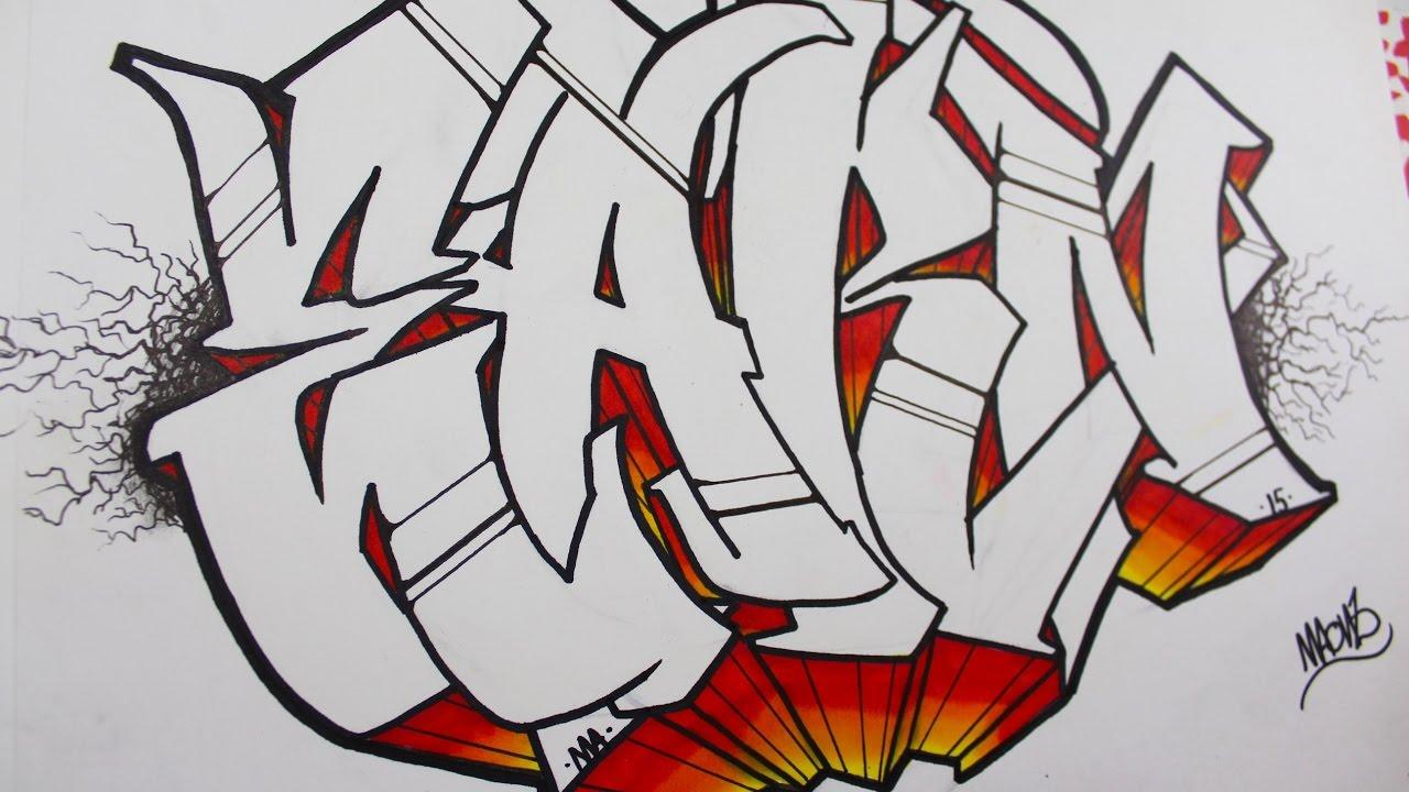 como hacer letras en graffiti tutorial youtube