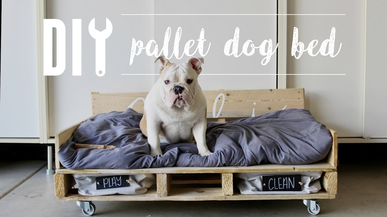 Diy Pallet Dog Bed Home Depot Youtube