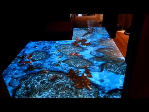 Interactive Floor With Sea Fish!