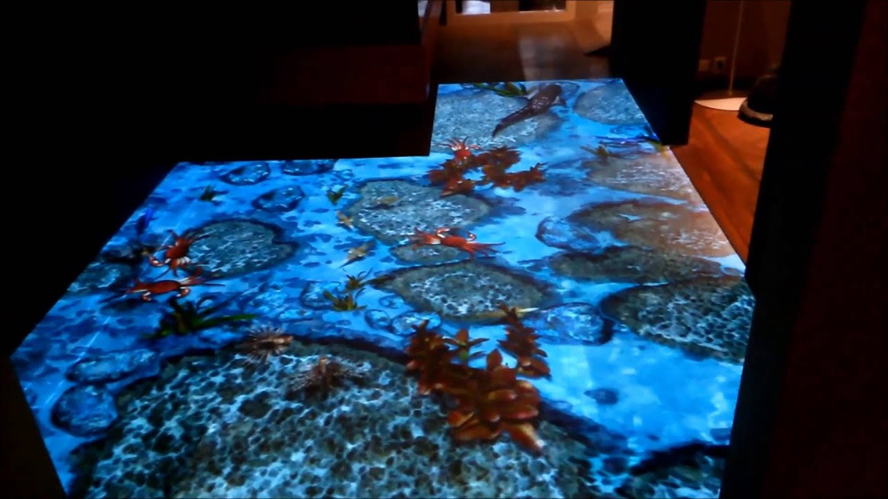 Interactive Floor With Sea Fish Youtube