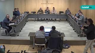 Ajuntament de Calafell: sessió plenària extraordinària, 22 de novembre de 2017