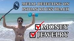 METAL DETECTING ON INDIAN ROCKS BEACH!!