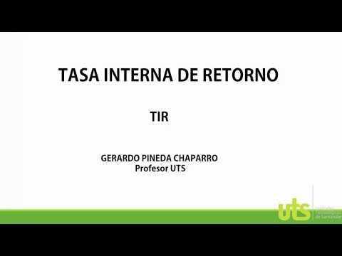 CALCULAR TASA INTERNA DE RETORNO TIR MANUALMENTE