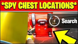 SEARCH CHESTS AT SPY BASES LOCATIONS (Fortnite Week 7 Challenges)