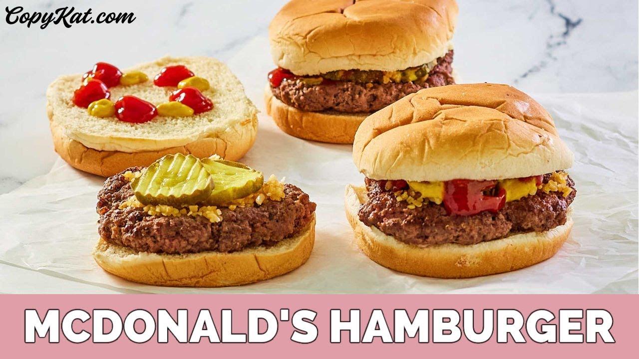 How to Make McDonalds Hamburger - YouTube