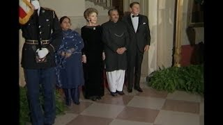 President Zia of Pakistan Arriving for State Dinner on December 7, 1982