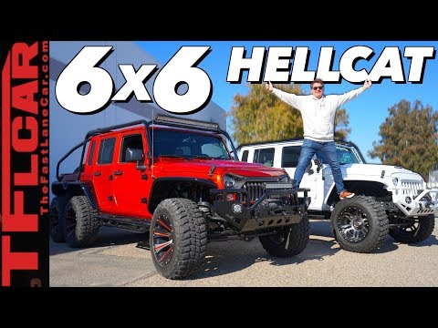 This 6X6 Hellcat Wrangler Pickup Is Only Vehicle Youll Ever Need!