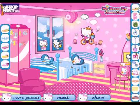 Hello Kitty Fan Decoration Online Video Game Baby Girl Games Youtube