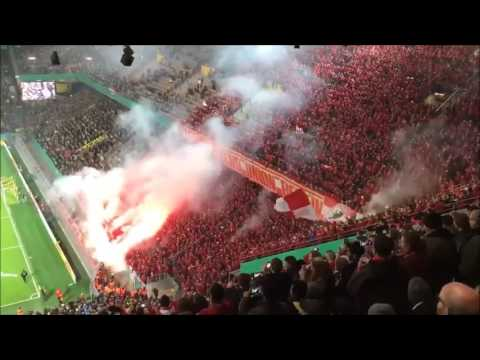 Union Pyroshow in Dortmund (Borussia Dortmund - 1.FC Union Berlin | DFB-Pokal)