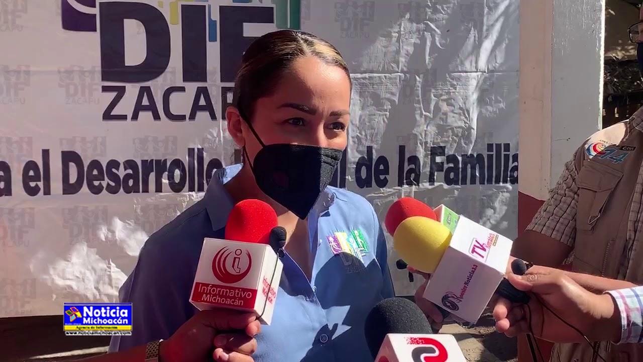 DIF Zacapu continúa brindando apoyos la ciudadanía: Claudia Griselle Sanhua Pérez