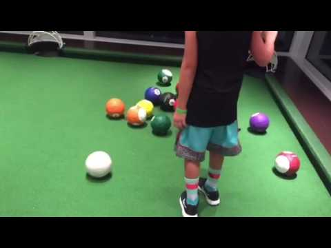 DJ Aiden Playing Soccer Pool On The Carnival Vista YouTube - Kickball pool table