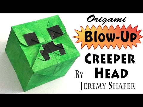 origami blow up box instructions