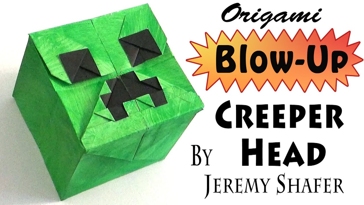 Origami Blow Up Creeper Head