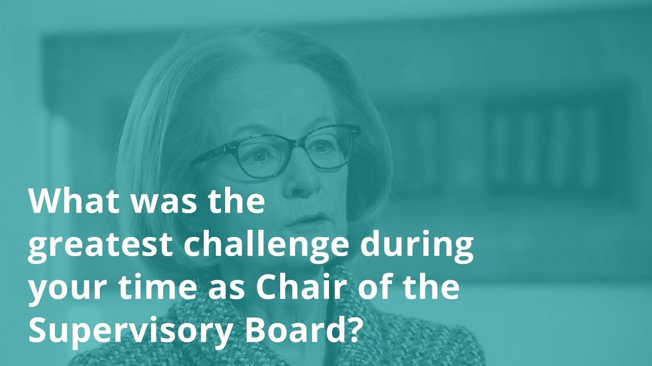 Interview with Danièle Nouy: what was the greatest challenge as Chair of the Supervisory Board?