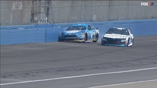 Monster Energy NASCAR Cup Series 2018. Auto Club Speedway. Kevin Harvick Crash