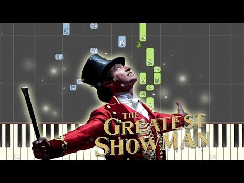 A Million Dreams Synthesia Piano Tutorial (The Greatest Showman)