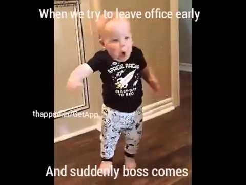 Funny Work Boss Meme : Short funny video: when you try to leave office early and suddenly