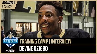 Devine Ozigbo Talks About His Performance at Saints Training Camp | New Orleans Saints
