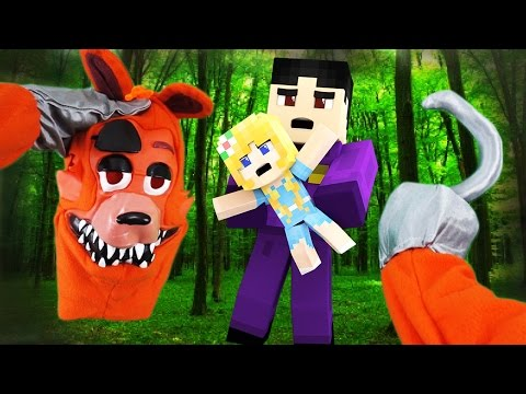 Realistic Minecraft - BECOMING FNAF FOXY IN REAL LIFE!