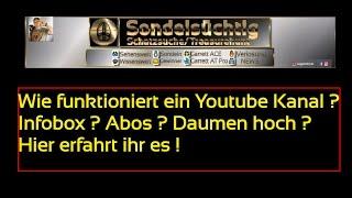 🎓Der Youtube Kanal, Tutorial über Infobox , Playlisten, Symbole ? Wie funktioniert es genau