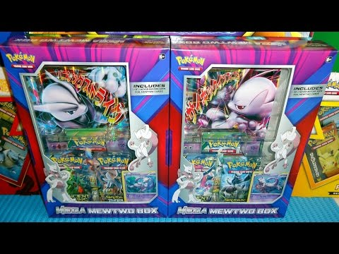 Mega Mewtwo-EX X & Y Best Pokémon Box Ever - Rare Promo Jumbo Cards & 6 Booster Packs