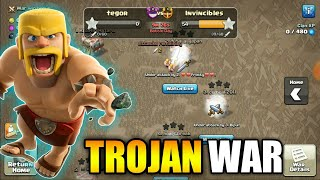 TROJAN WAR || 60 ATTACKS IN LAST 10 MINS || CLASH OF CLANS