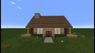 Minecraft: How to make a small but cute survival house - Tutorial